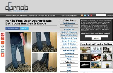 http://dornob.com/hands-free-door-opener-beats-bathroom-handles-knobs/#axzz2PEZPbDnW