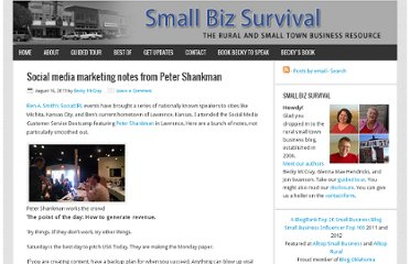 http://smallbizsurvival.com/2011/08/social-media-marketing-notes-from-peter.html