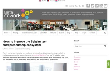 http://www.betacowork.com/ideas-to-improve-the-belgian-tech-entrepreneurship-ecosystem/