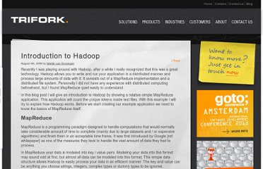 http://blog.trifork.com/2009/08/04/introduction-to-hadoop/