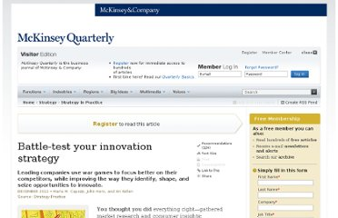 http://www.mckinseyquarterly.com/Battle-test_your_innovation_strategy_3038