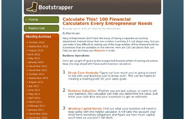 http://www.businesscreditcards.com/bootstrapper/calculate-this-100-financial-calculators-every-entrepreneur-needs/