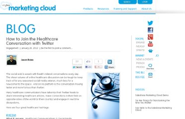 http://www.salesforcemarketingcloud.com/blog/2012/01/how-to-join-the-healthcare-conversation-with-twitter/