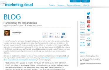 http://www.salesforcemarketingcloud.com/blog/2010/09/humanizing-the-organization/