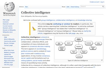 http://en.wikipedia.org/wiki/Collective_intelligence