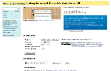 http://userstyles.org/styles/38839/simple-wood-tumblr-dashboard