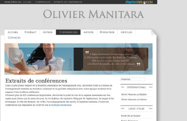 http://www.oliviermanitara.org/Conferencier/extraits-de-conferences.html