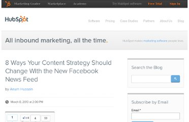 http://blog.hubspot.com/blog/tabid/6307/bid/34248/8-ways-your-content-strategy-should-change-with-the-new-facebook-news-feed.aspx