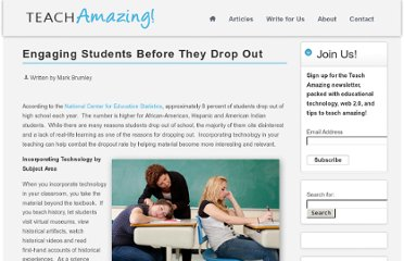 http://teachamazing.com/engaging-students-before-they-drop-out/