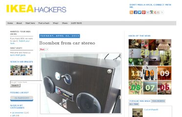 http://www.ikeahackers.net/2013/04/boombox-from-car-stereo.html