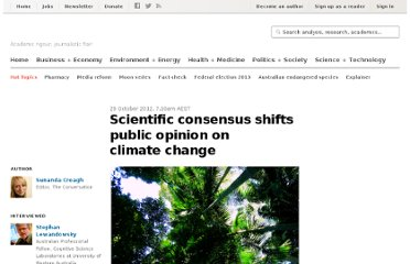 http://theconversation.com/scientific-consensus-shifts-public-opinion-on-climate-change-10356