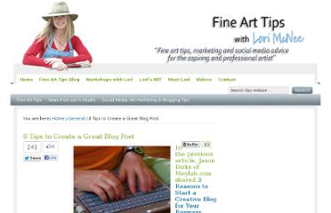 http://www.finearttips.com/2010/06/8-tips-to-create-a-great-blog-post/