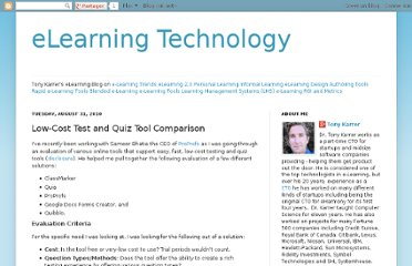 http://elearningtech.blogspot.com/2010/08/low-cost-test-and-quiz-tool-comparison.html