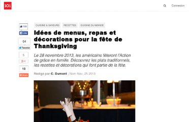 http://suite101.fr/article/idees-de-menus-repas--et-decorations-pour-la-fete-dethanksgiving-a35959#axzz2PGqb78kT