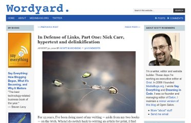 http://www.wordyard.com/2010/08/30/in-defense-of-links-part-one-nick-carr-hypertext-and-delinkification/