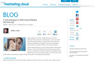 http://www.salesforcemarketingcloud.com/blog/2012/03/5-advantages-in-b2b-social-media-monitoring/