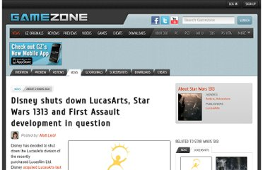 http://www.gamezone.com/news/2013/04/03/disney-shuts-down-lucasarts-star-wars-1313-and-first-assault-development-in-question