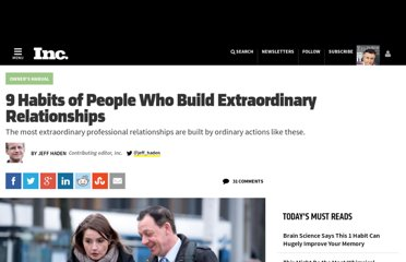 http://www.inc.com/jeff-haden/9-habits-of-people-who-build-extraordinary-relationships.html