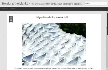 http://www.breakingtheblanks.com/2011/03/origami-tessellation-auxetic-grid.html