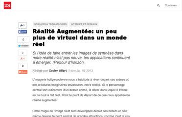 http://suite101.fr/article/realite-augmentee--un-peu-plus-de-virtuel-dans-un-monde-reel-a26518#axzz2PH5WwaPG