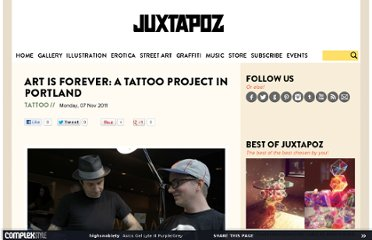 http://www.juxtapoz.com/tattoo/art-is-forever-a-tattoo-project-in-portland