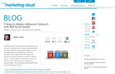 http://www.salesforcemarketingcloud.com/blog/2012/02/b2b-social-media-influencer-outreach/