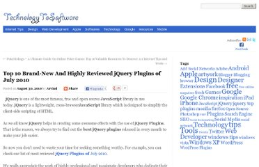 http://technologytosoftware.com/best-mostuseful-jquery-plugins-of-july-2010.html