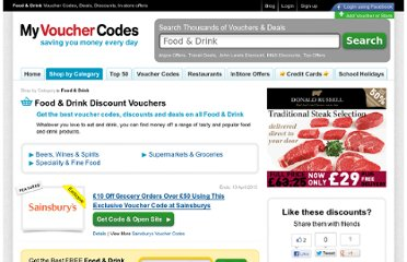 http://www.myvouchercodes.co.uk/food-drink