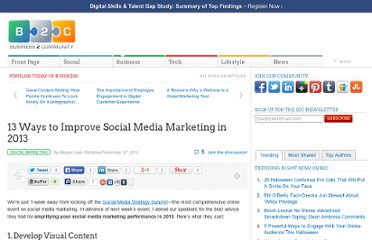 http://www.business2community.com/digital-marketing/13-ways-to-improve-social-media-marketing-in-2013-0342654
