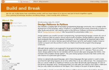 http://bandb.blogspot.com/2007/07/design-patterns-in-python.html