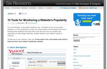 http://sixrevisions.com/tools/tools_monitoring_website_popularity/