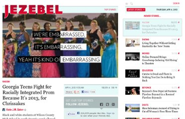 http://jezebel.com/5993590/georgia-teens-fight-for-racially-integrated-prom-because-its-2013-for-chrissakes