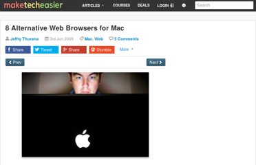 http://www.maketecheasier.com/8-alternative-web-browsers-for-mac/2009/06/03