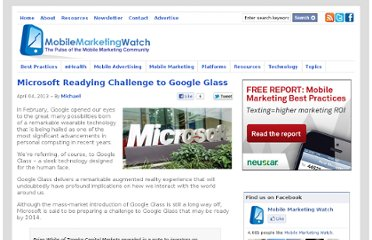 http://www.mobilemarketingwatch.com/microsoft-readying-challenge-to-google-glass-31145/