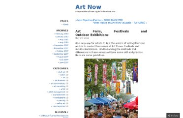 http://gborzov.wordpress.com/2011/05/19/art-fairs-festivals-and-outdoor-exhibitions/