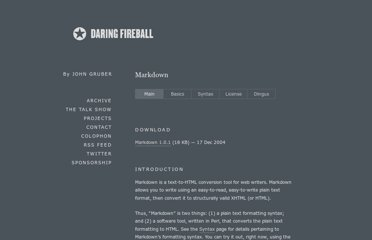 http://daringfireball.net/projects/markdown/