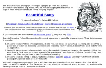 http://www.crummy.com/software/BeautifulSoup/