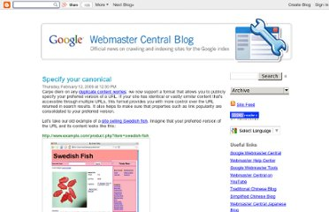 http://googlewebmastercentral.blogspot.com/2009/02/specify-your-canonical.html