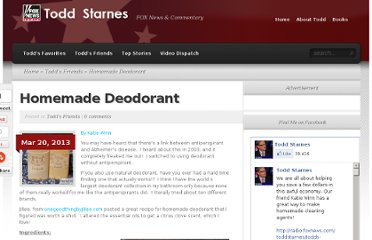 http://radio.foxnews.com/toddstarnes/todds-friends/homemade-deodorant.html