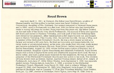 http://web.archive.org/web/20030814231111/www.falcon1.net/~brownje/Biographies/Brown/Royal.html