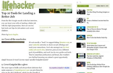 http://lifehacker.com/5157794/top-10-tools-for-landing-a-better-job
