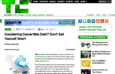 http://techcrunch.com/2013/04/06/considering-convertible-debt-dont-sell-yourself-short/