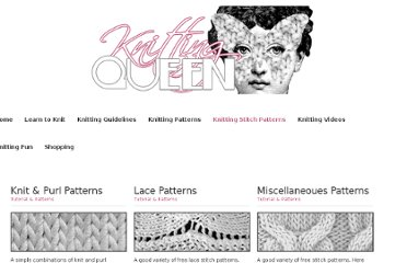 http://www.knittingqueen.com/knitting_stitch_patterns.html