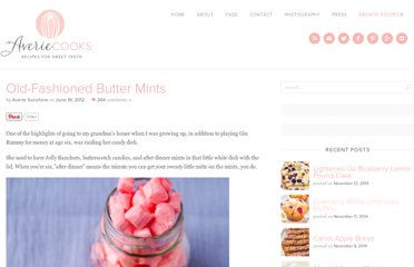 http://www.loveveggiesandyoga.com/2012/06/old-fashioned-butter-mints.html