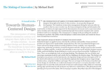 http://www.michaelbartl.com/article/human-centered-design/