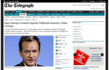 http://www.telegraph.co.uk/news/worldnews/europe/sweden/7974922/Rape-charges-reissued-against-Wikileaks-founder-Julian-Assange.html