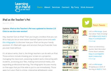 http://learninginhand.com/blog/2013/4/7/ipad-as-the-teachers-pet-infographic