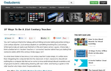 http://edudemic.com/2013/04/27-ways-to-be-a-21st-century-teacher/