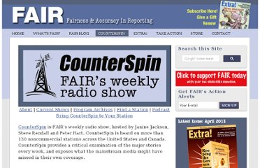 http://fair.org/counterspin-radio/