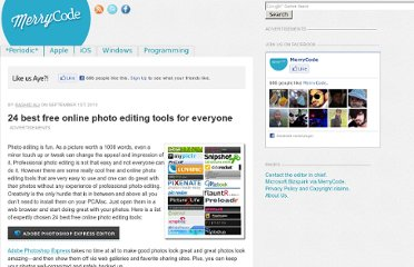 http://blog.merrycode.com/24-best-free-online-photo-editing-tools-for-everyone/